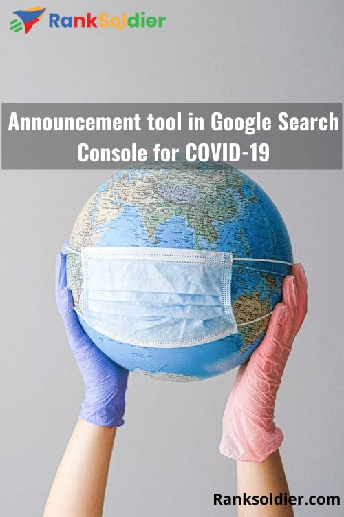 Announcement tool in Google Search Console for COVID-19